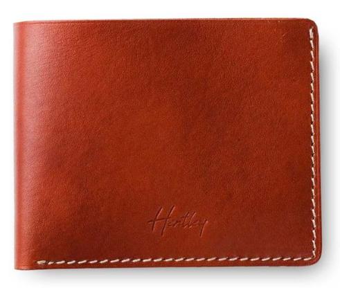 Hentley manhattan classic mens designer wallet leather brown