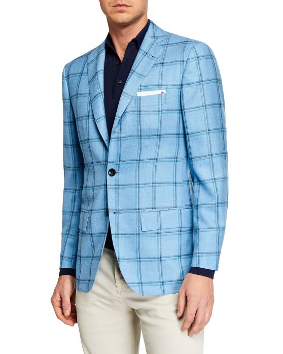Kiton Sports Coat blue Neiman Marcus