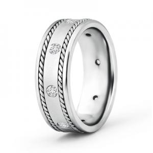 Angara unique mens wedding bands silver jewelry