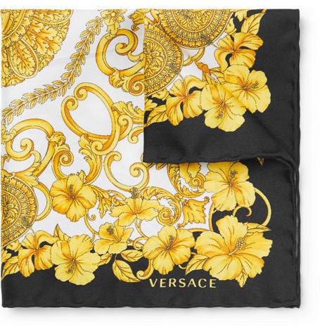 Versace pocket square mr porter