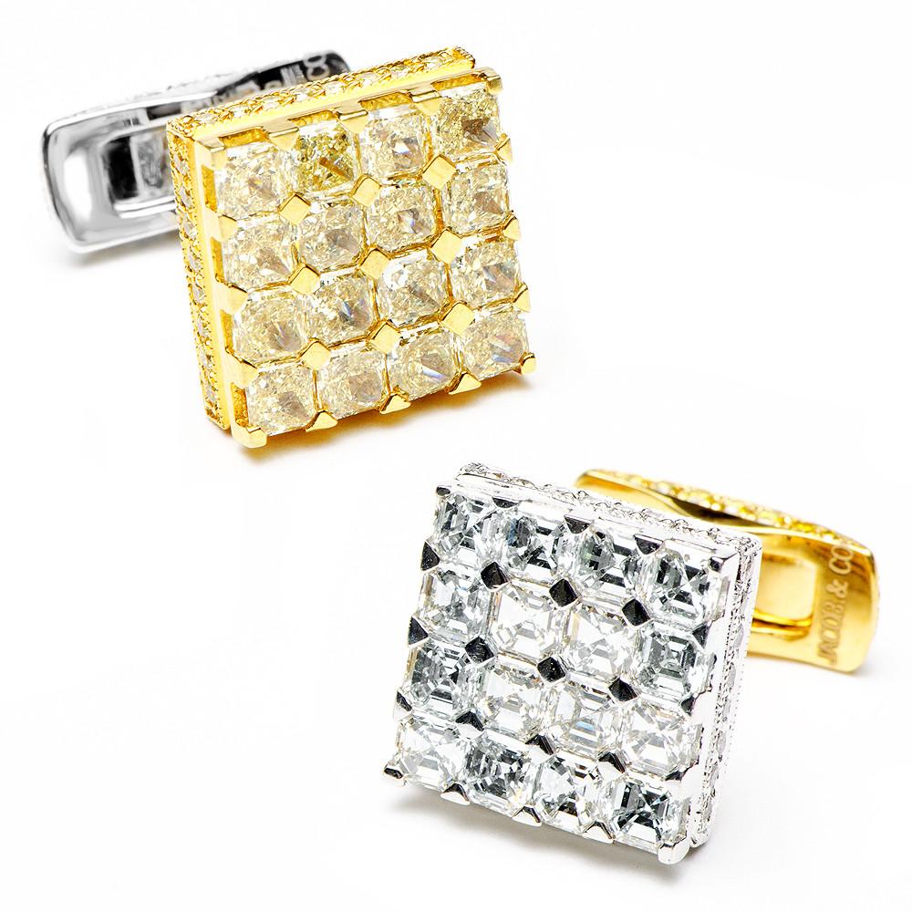 Jacob and Co designer diamond cufflinks swanky