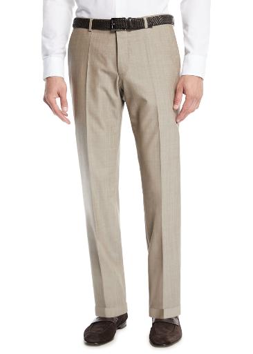 Boss Wool Straight Leg Trousers