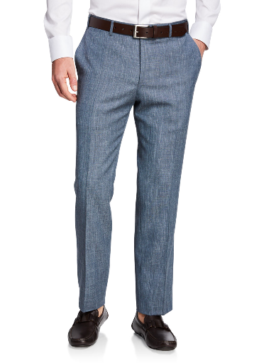 Canali solid travel trousers