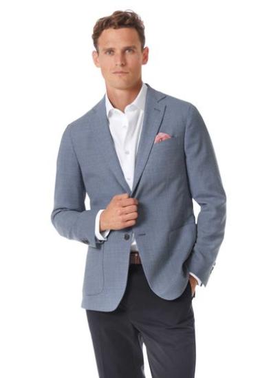 Charles Tyrwhitt italian wool blazer mens blue