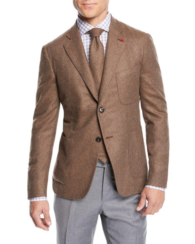 Isaia Sport Coat beige mens style