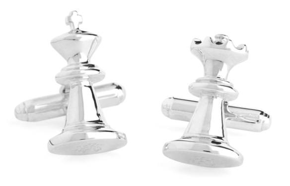 Sterling Silver Chess Piece Cuff Links Brooks Brothers