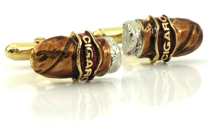 cigar designer cufflinks for men style