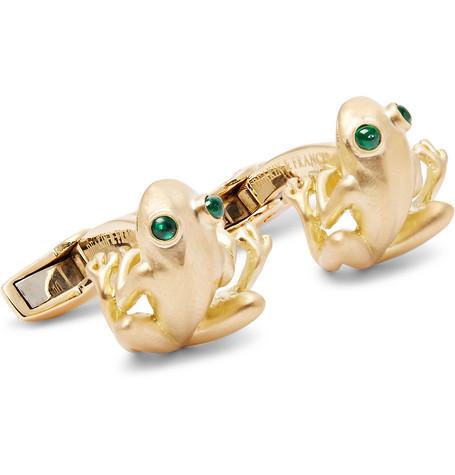deakin and francis designer mens cufflinks gold frog