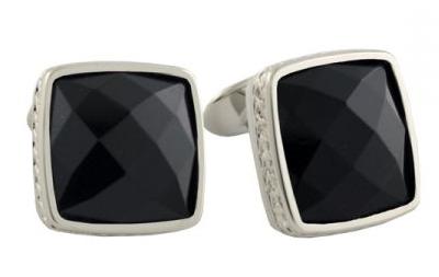 black oxyx squared cufflinks for men