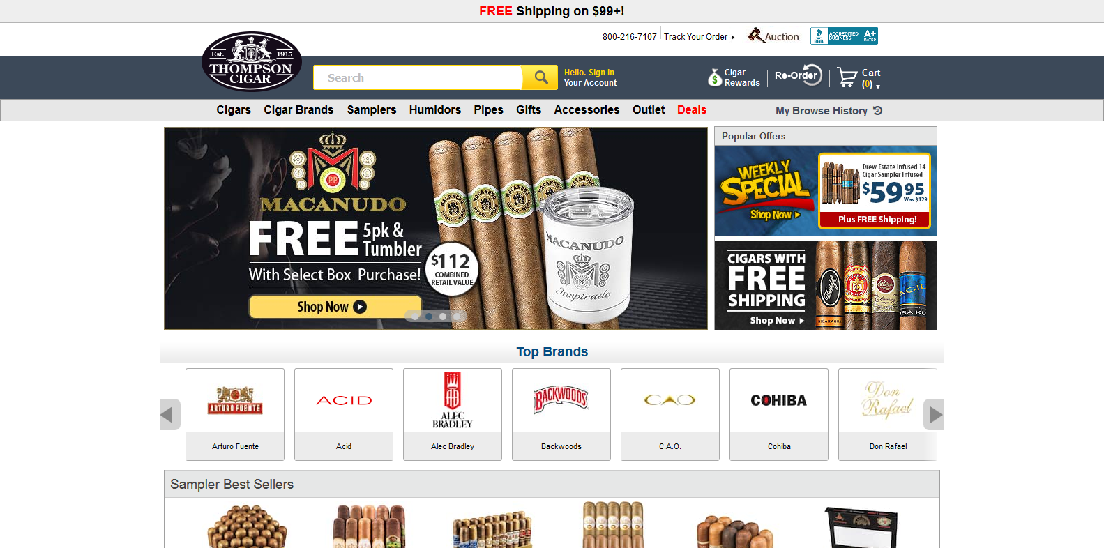 thompson cigars best place to buy cigars online