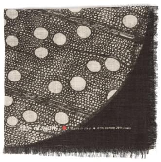 Bead embellished cotton blend pocket square