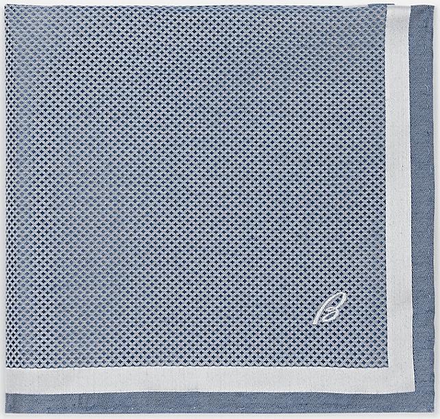 Brioni Crosshatch Silk Twill Pocket Square