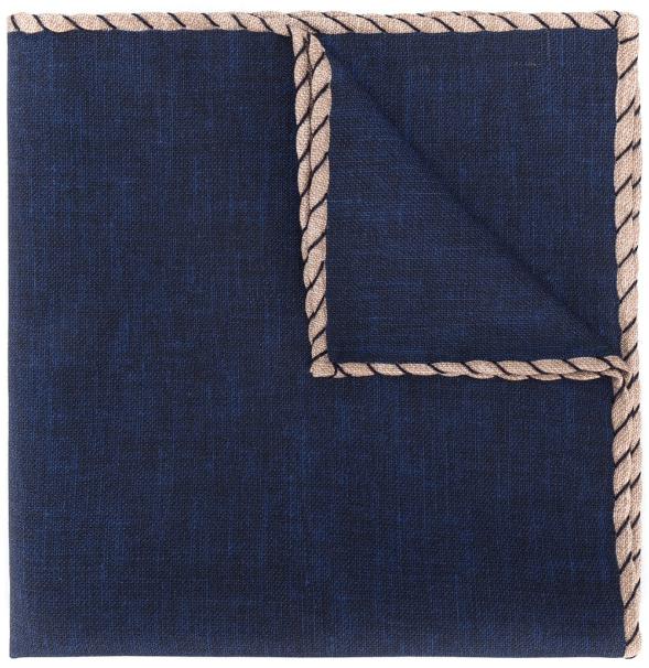 Brunello Cucinelli Contrast Stitching Pocket Square