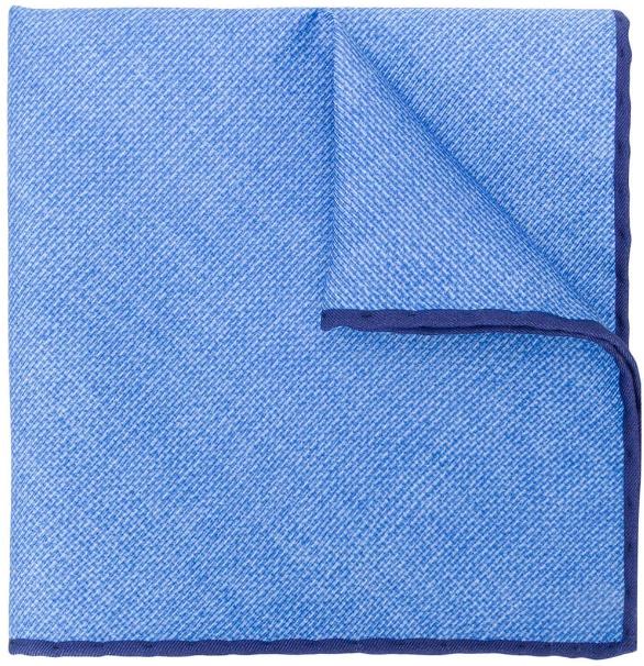 6468b49ffd589 Light blue Canali designer pocket square