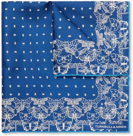 ebdcf58156a57 Turnbull & Asser printed silk twill designer pocket square
