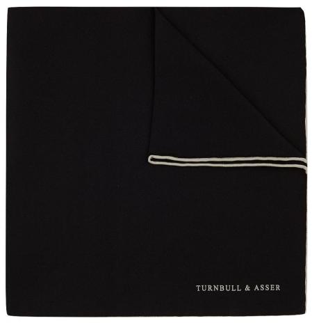 Turnbull & Asser pocket square black