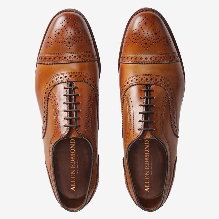 Allen Edmonds oxfords brown mens style