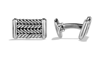 Designer David Yurman cufflinks silver