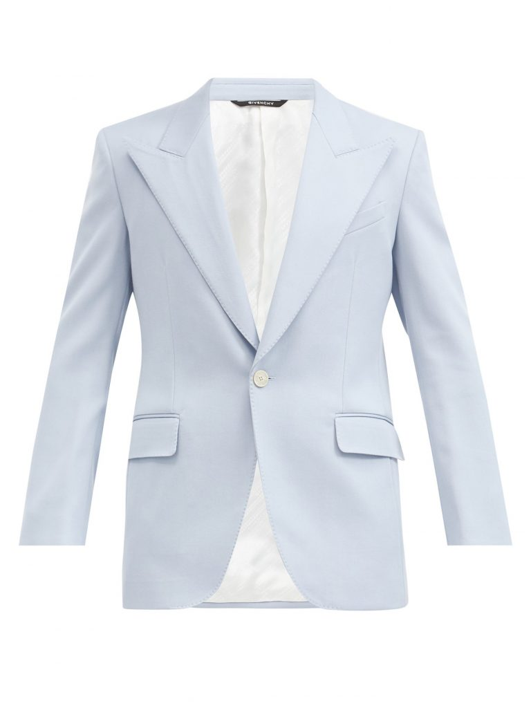 Givenchy mens blazer white single breasted twill