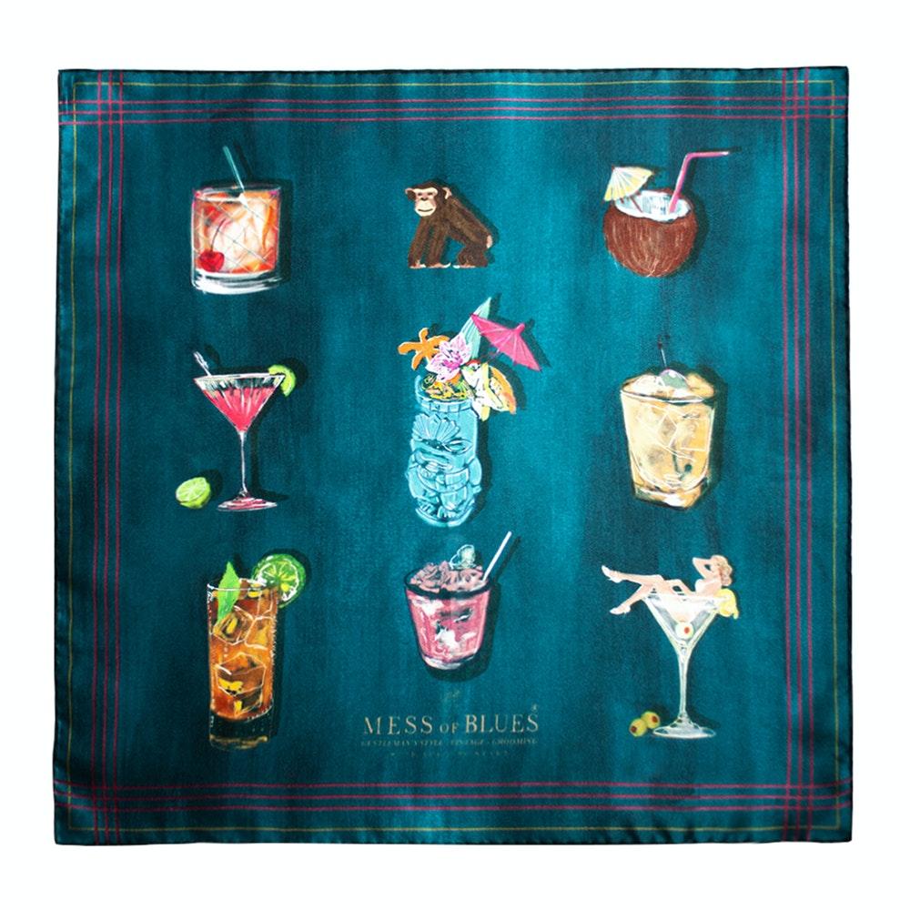 Silk Designer pocket square cocktails