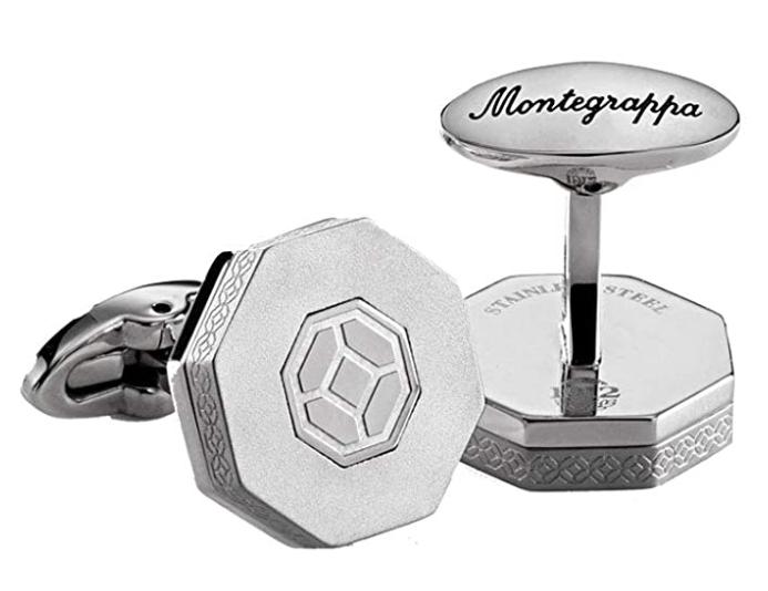 Silver designer Montegrappa cufflinks for men style