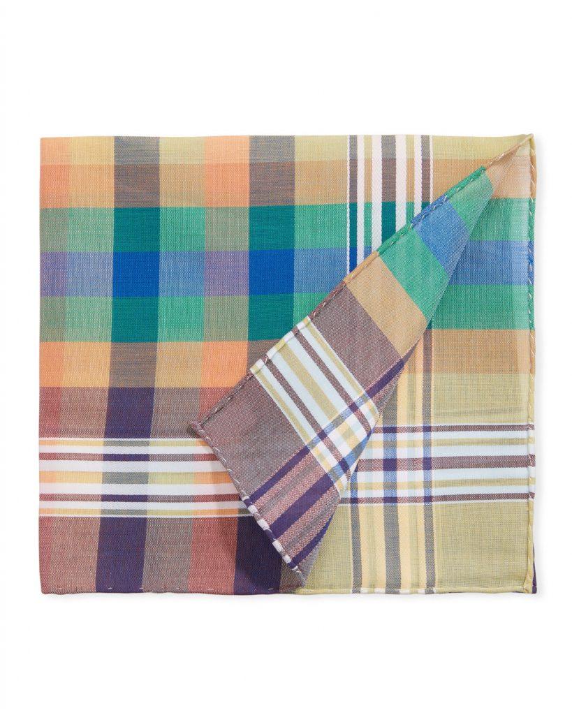 Simonnot Godard pocket square multi-color