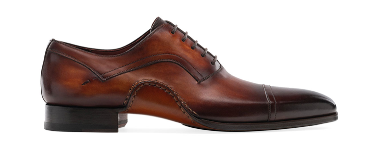 Magnanni shoes mens brown oxfords dress