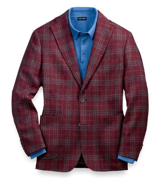Paul Fredrick mens sport coat red