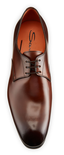 Santoni brown oxfords shoes