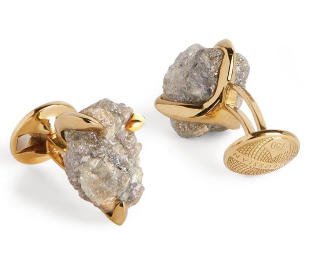 Designer cufflinks for men gold stone Tateossian
