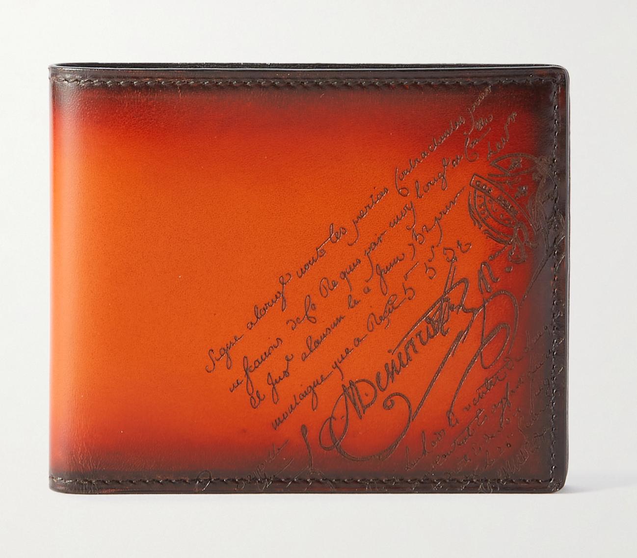 Berluti leather designer wallet for men