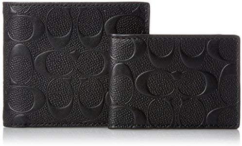 best luxury coach wallet mens black