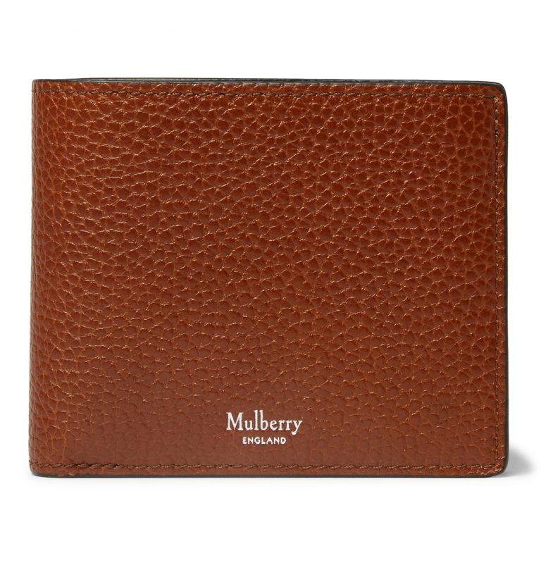 Brown mulberry designer mens wallets