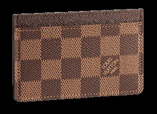 Brown LV men card holder