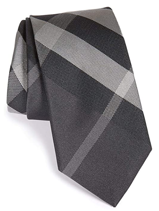 Mens Designer Burberry ties grey