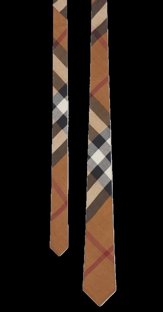 Burberry tie mens brown silk