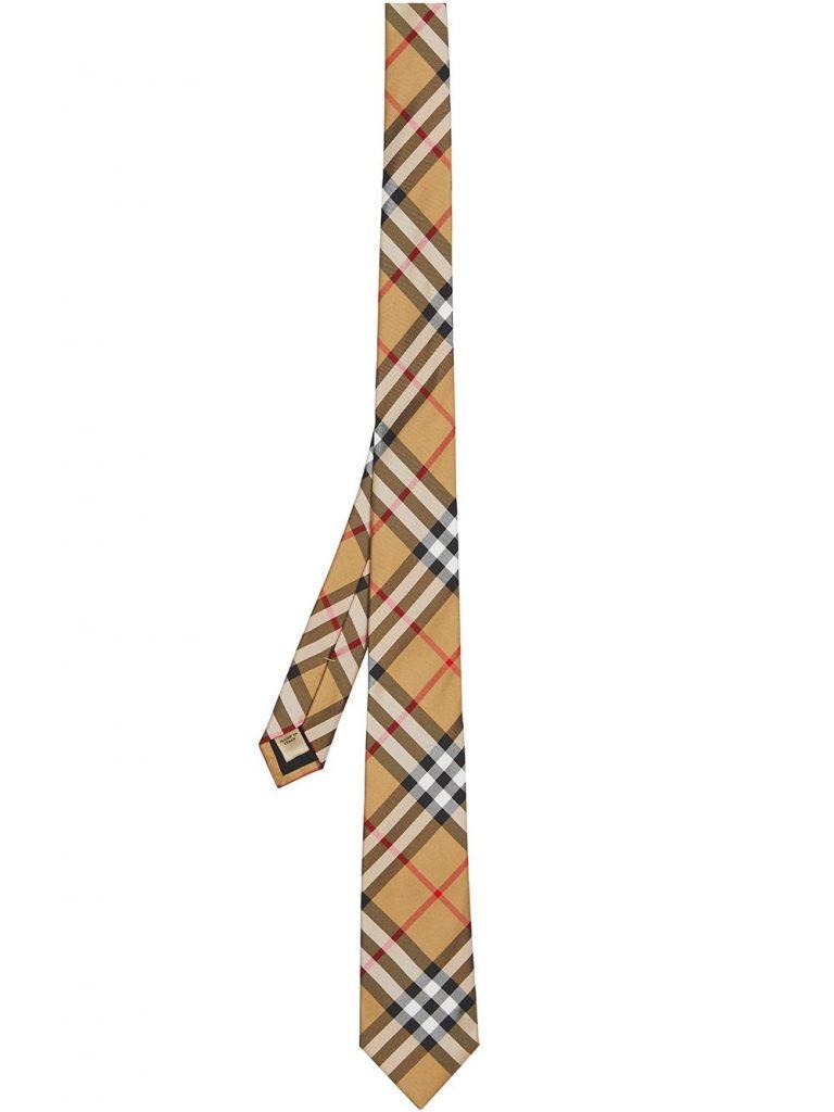Modern Cut yellow Burberry Tie mens