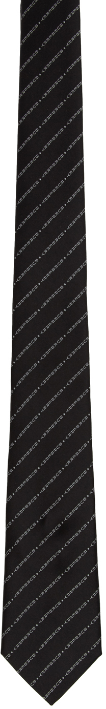 Black and white burberry tie mens silk