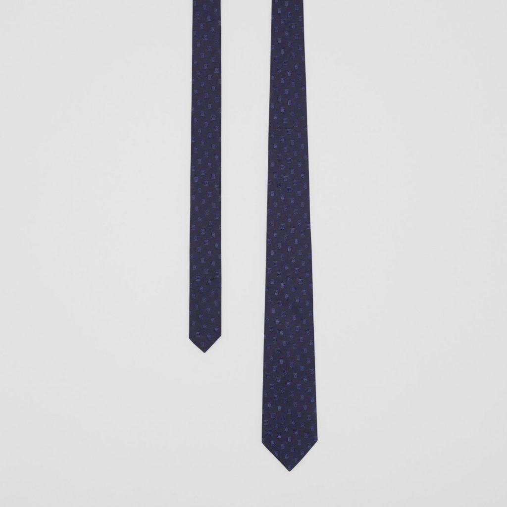 Navy Blue Burberry Tie mens