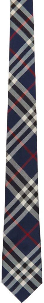 Burberry tie navy blue silk mens style