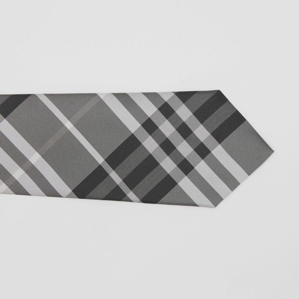 Grey Burberry Tie mens silk
