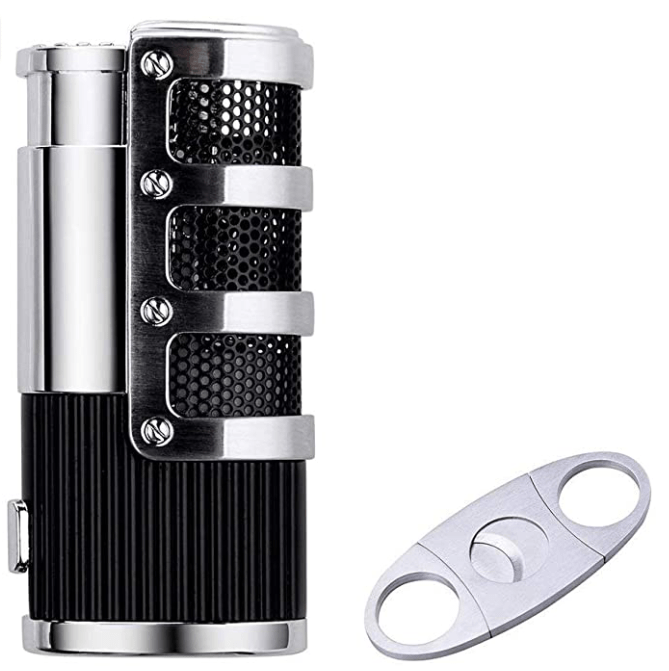 Best Cigar Cutter and lighter combo set silver amazon