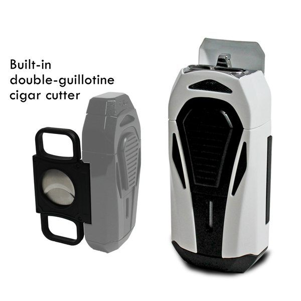 colibri cigar cutter and lighter combo boss triple torch white and black best