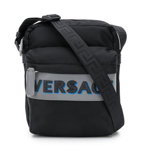 Versace crossbody bag mens black