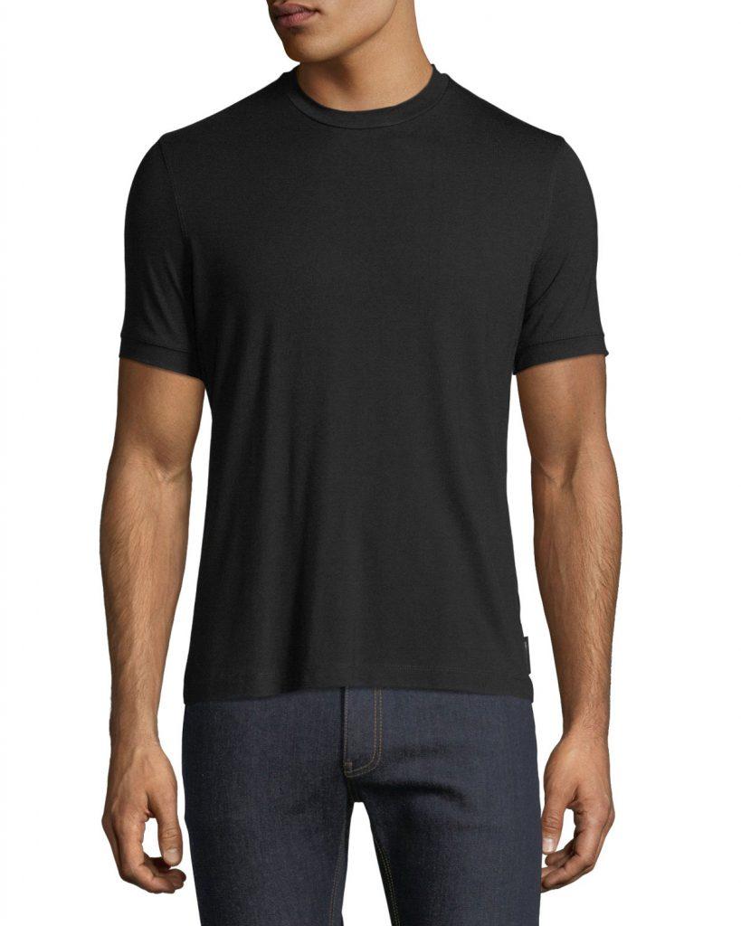 Emporio Armani plain black t shirt men