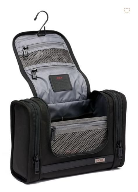 Tumi dopp kits mens toiletry bag black leather