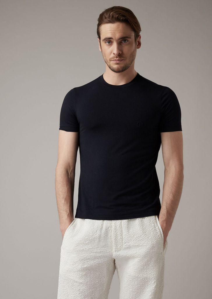 Giorgio Armani black t shirt men plain