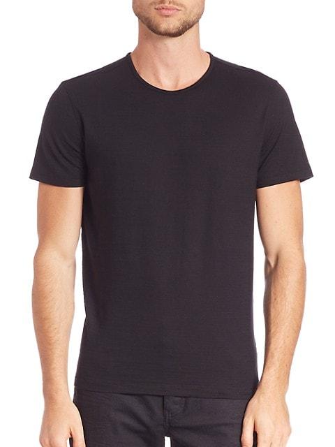 John Varvatos plain black t shirt for men