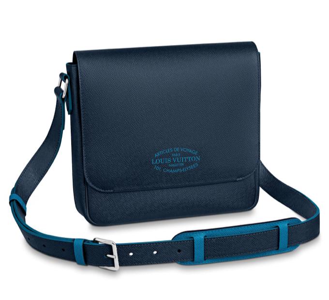 Blue Louis Vuitton crossbody bag mens new