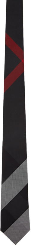 Burberry tie red and brown silk mens style